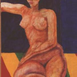 Richard Wynne: 'Nude', 2000 Oil Painting, Nudes. Artist Description:   I tried to capture the flat feeling of a Gauguin in this painting. He also used rich color tones in many of his works. Acrylics, watercolors, and oils were used in this work. This was painted on canvas....