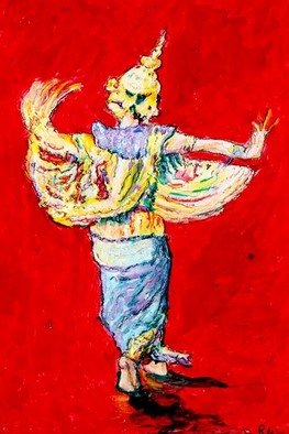 Richard Wynne Artwork Ramakien Dancer, 2006 Other Painting, Dance