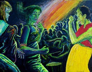Music Oil Painting by Richard Wynne Title: Rave, created in 2011