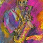 Sax Player By Richard Wynne