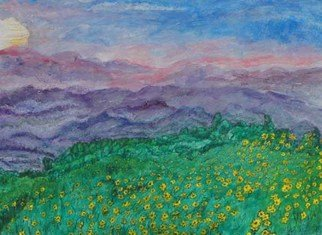 Artist: Richard Wynne - Title: Sun Flowers at Mae Hong Son - Medium: Other Painting - Year: 2006