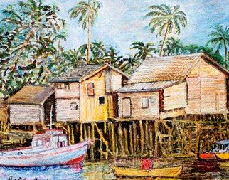 Artist: Richard Wynne - Title: Thai Harbor - Medium: Oil Painting - Year: 2011