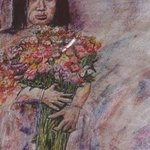 Young Girl with Flowers By Richard Wynne