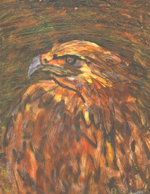 Animals Mixed Media by Richard Wynne Title: bird of prey, created in 2003