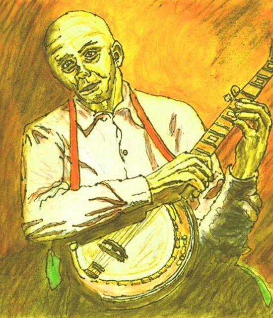 Richard Wynne  'The Banjo Player', created in 2001, Original Photography Color.