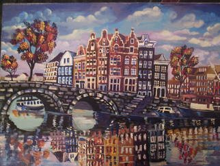 Artist: Glendon Mcfarlane - Title: Dutch Amsterdam - Medium: Acrylic Painting - Year: 2011