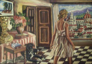 Artist: Glendon Mcfarlane - Title: My View of Florence - Medium: Acrylic Painting - Year: 2012