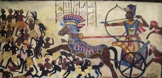 Artist: Glendon Mcfarlane - Title: Rameses 2 at the Battle of Kadesh - Medium: Acrylic Painting - Year: 2011
