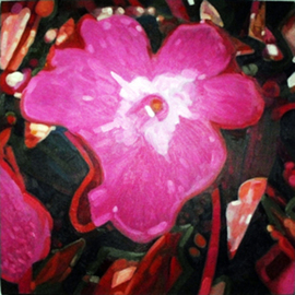 Edwin Villavera: 'Pink Flora', 2009 Oil Painting, Floral. Artist Description:  Flower ...