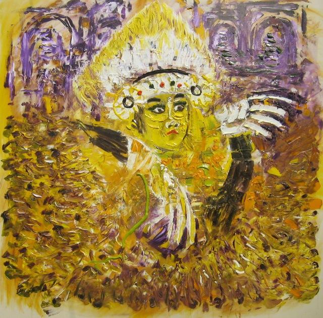 Eddy lubis bali dance 2016 oil painting