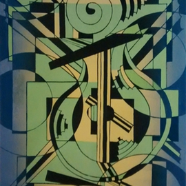 Edelweiss Calcagno Artwork Apollos Lyre, 2015 Other Printmaking, Abstract