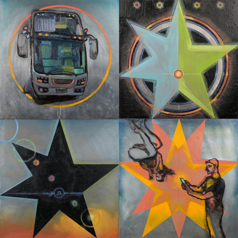 Edem Elesh Artwork lovers and strangers, 2013 Mixed Media, Spiritual