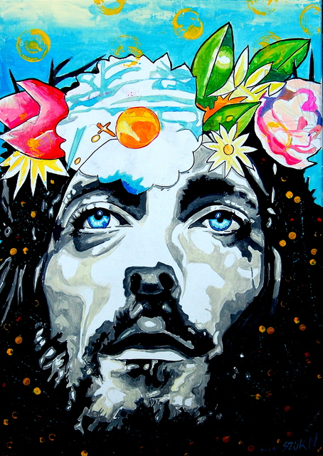 Norbert Szuk  'Jesus', created in 2020, Original Painting Acrylic.