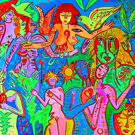 Norbert Szuk: 'love and peace', 2020 Acrylic Painting, Ethnic. Artist Description: canvas...