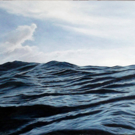 Edna Schonblum: 'home', 2017 Oil Painting, Seascape. Artist Description: a view from a high sea...