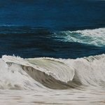 stormy sea in Leblon beach By Edna Schonblum