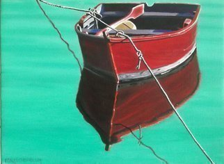 Edna Schonblum Artwork tethered 1, 2015 Oil Painting, Boating