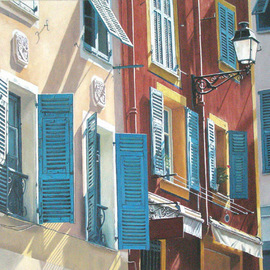 Edna Schonblum Artwork windows, 2008 Oil Painting, Urban