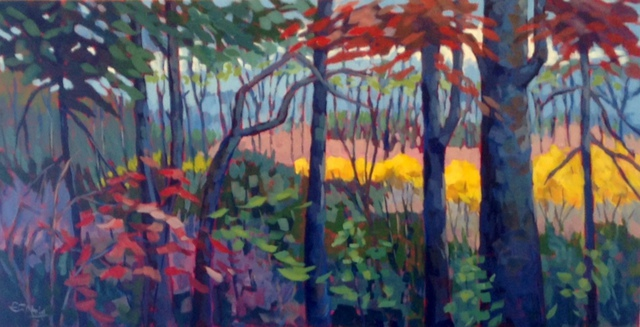 Edward Abela  'Algonquin Panorama III', created in 2014, Original Watercolor.