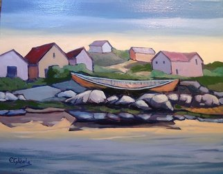Artist: Edward Abela - Title: Peggys Cove Boat - Medium: Oil Painting - Year: 2014
