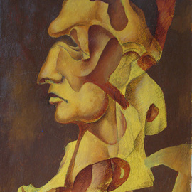 Eduard Hakobyan Artwork Cesar, 2004 Acrylic Painting, Surrealism