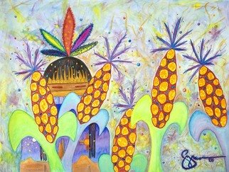 Edward Guzman Artwork Grows Corn, 2008 Giclee, Southwestern
