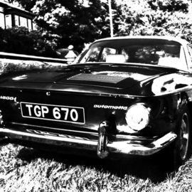 Paul Edwards: 'karmann exposed', 2017 Black and White Photograph, Automotive.