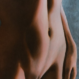 Edwin Ijpeij: 'the forbidden fruit', 2019 Oil Painting, Nudes. Artist Description: Original. Tempera And Oil On Panel. This life- size painting has the title: Le Fruit DA(c)fendu, which means in English The Forbidden Fruit. This very sensual nude celebrates the female beauty and power. The Forbidden Fruit refers to the creation story of humanity: Adam and Eve. God ...