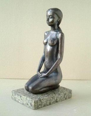 Bronze Sculpture by Alexander Efimov titled: Girl, 2000
