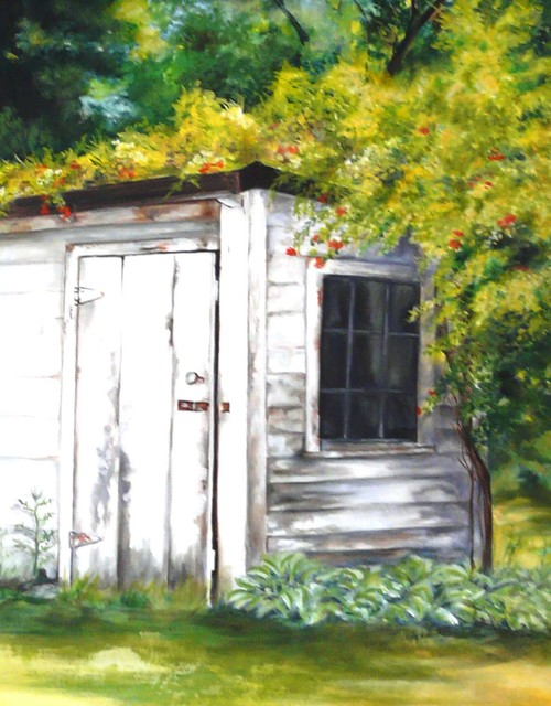 Renee Pelletier Egan  'Country Shed', created in 2016, Original Painting Oil.