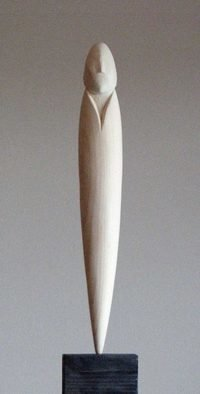 Lars Berg Artwork Coming into being, 2012 Wood Sculpture, Gestalt