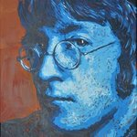 John Lennon Portrait Three By Erick Nogueda