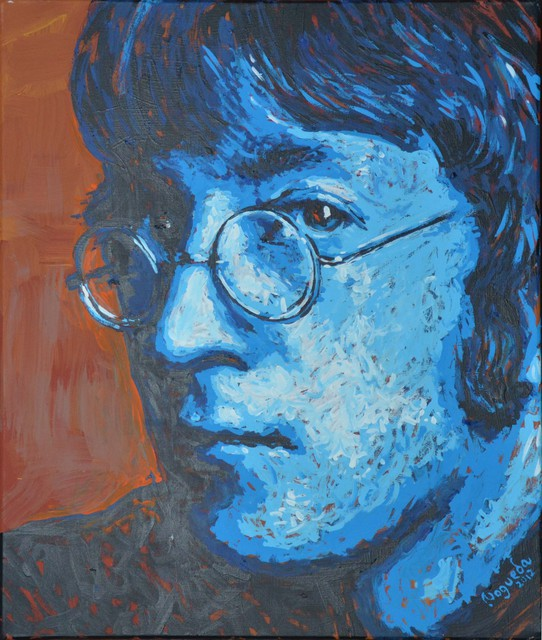 Erick Nogueda  'John Lennon Portrait Three', created in 2012, Original Painting Acrylic.