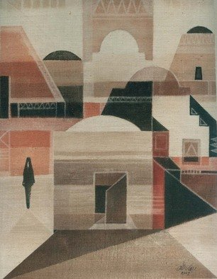Ehab Lotfi: 'nubian house', 2007 Acrylic Painting, Landscape.  acrylic on canvas on board ( 2007) .design for nubian house from the tresure of upper egypt. ...