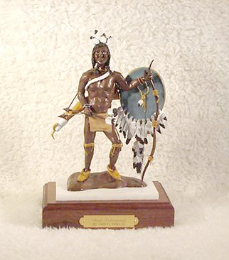 Bronze Sculpture by Cheryl Ehmann titled: Chief Tishomingo, 2004
