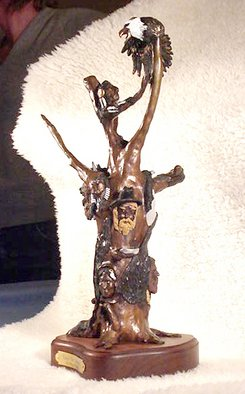 Bronze Sculpture by Cheryl Ehmann titled: Tree of Spirits, 2004