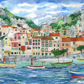Amalfi from the Sea By Eileen Seitz