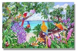 Eileen Seitz: 'Summers Song', 2004 Poster, Birds.  Inspired from the zest of energy and beauty found in the tropicswww.  eileenseitz.  com ...