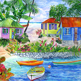 bungalows on sandy cove  By Eileen Seitz