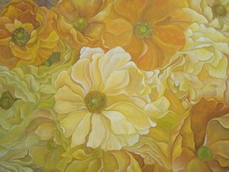 Ekapon Poungpava: 'Yellow Anemone', 2007 Oil Painting, Floral.  The yellow anemone in my imagination. ...