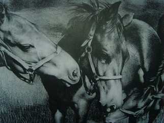 Animals Lithograph by Manana N Sakhvadze Kligman titled: Friends, created in 2007