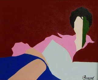 Artist: Elizabeth Bogard - Title: Reader in Jewel Tones - Medium: Acrylic Painting - Year: 2008