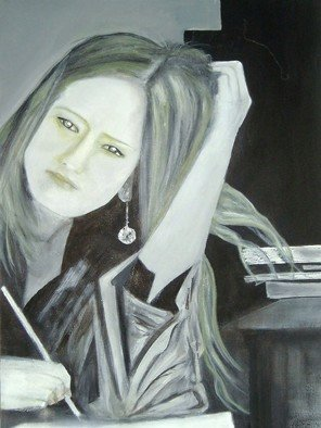 Artist: Elizabeth Bogard - Title: Writer - Medium: Acrylic Painting - Year: 2009
