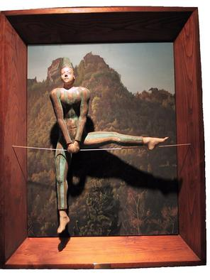 Bronze Sculpture by Andrew Wielawski titled: Acrobat, created in 2003