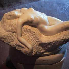 Andrew Wielawski: 'Nude', 2000 Stone Sculpture, nudes. Artist Description: This was a failed piece, made out of a top notch marble, and had been around the studio for years. My apprentice at the time, Karen Oschal, was cleaning up and said, Why don' t you rework this sculpture? It' s not that far off. Or throw it ...