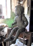 Bronze Sculpture by Andrew Wielawski titled: Sophie on a Swing, created in 2010