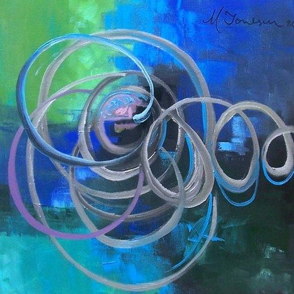 , Fusion In Blue, Abstract, $315