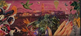 Collage by Elena Mary Siff titled: A Wild Night At the Pier, 2012