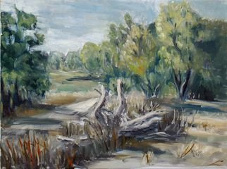 Elena Sokolova Artwork Country road , 2015 Oil Painting, Landscape