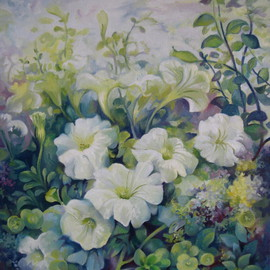 Elena Oleniuc: 'Spring in the soul', 2010 Oil Painting, Floral.